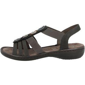 rieker Damen klassische Sandalen Grau Schuhe, Größe:39