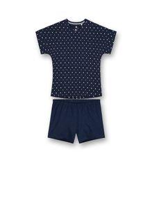 Sanetta Mädchen Schlafanzug Set - kurz, Kinder, 2-tlg., Punkte, 128-176 Blau 164
