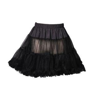 """18"""" der 50er Jahre Retro-Unterrock Unterkleid Petticoat Rock Tutu schwarz, weiß, rot, blau (Black S/M)"""