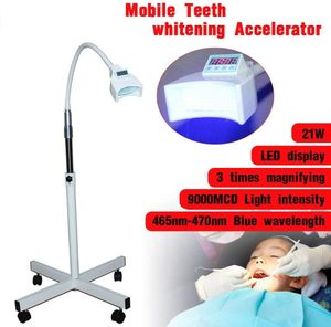 21W Dental LED Zahnweiß Lampe Accelerator Zahnaufhellungslampe Zahnaufhellung Licht Stand Beschleuniger Gerät 9000MCD