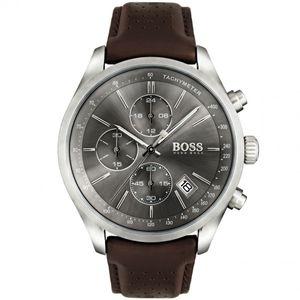 Hugo Boss Herren Chronograph Grand Prix Armbanduhr 1513476 - Edelstahl/Braun/Grau