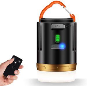 USB LED Campinglampe Outdoor Laterne Zeltlampe Wasserdicht Aufladbar Dimmbar 2 Leuchtmodi 4800mAh mit Fernbedienung