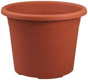 10er Set Topf Cylindro 35 cm aus Kunststoff Sparpaket, Farbe:terracotta