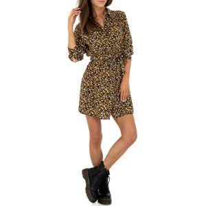 Ital-Design Damen Kleider Blusenkleider Dunkelblau Gr.s