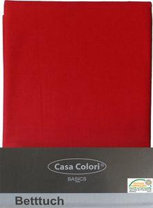 klassisches Haustuch, Betttuch, Bettlaken, OHNE Spanngummi, 150x250 cm, Farbe: rot, 100% Baumwolle