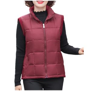 Damen Winter Plus Size Schlanke Mutter Baumwolle Weste Warmer Jackenmantel Größe:XXXXL,Farbe:Kupfer