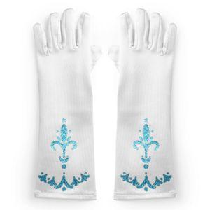 Prinzessin Elsa Handschuhe für Mädchen-Kostüm Karneval Verkleidung Party Handschuhe, weiß
