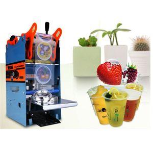 Kunststoff-Teetassen Drink Sealer Sealing Machine 270W 300Cups / h 3,8 Zoll × 4,8 Zoll