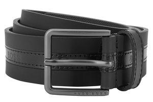 Boss 50452435-001 Herren-Gürtel Ther-G-Logo Leder Schwarz, 95 cm