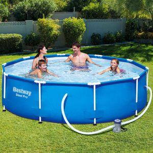 Bestway Frame Pool Set Ø305x76cm Swimmingpool  Schwimmbecken Filterpumpe