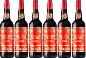 6x Moscatel Promesa  – Valdespino Sherry, Jerez-Xèrés-Sherry – Weißwein