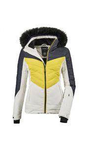 Killtec - Damen Jacke in Daunenoptik mit abzippbarer Kapuze und Schneefang, Atka WMN Quilted Ski JCKT A (35686), Größe:36, Farbe:Denim (00885)