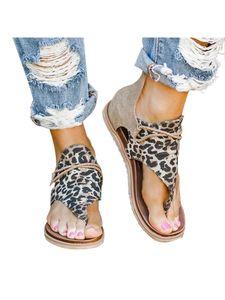 Abtel Damen Mode Sandalen Mit Leopardenmuster Und Fischgrätenmuster,Farbe:Khaki,Größe:39