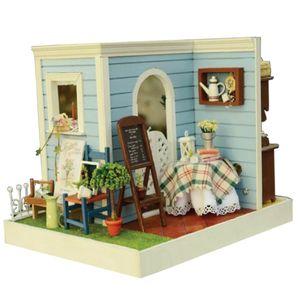 Miniatur 1:24 DIY Dollhouse Möbel, 3D Holz Zweiseitige Puppenhaus Geschenke