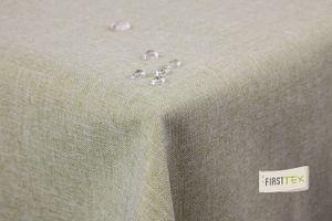 Tischdecke Leinenoptik Lotuseffekt abwaschbar mit gerader Saumkante160x160 eckig in hellgrün