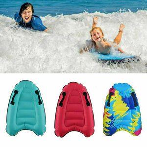 Kinder Schwimmen Pool Schwimm Aids Aufblasbare Surfbrett Bodyboard Kickboard Blau 52*75cm