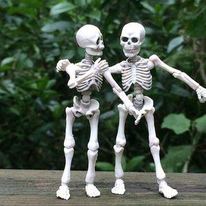 Halloween bewegliches Skelett menschliches Modell Schädel Ganzkörper Mini Figur Spielzeug