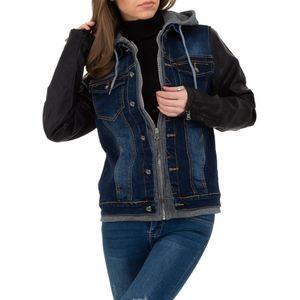 Ital-Design Damen Jacken Jeansjacken Blau Gr.2Xl