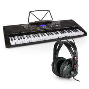Schubert Etude 225 - Lern-Keyboard , 255 Stimmen , 255 Rhythmen , 50 Demo-Songs , USB , AUX , Kopfhörer / Mikrofon-Anschluss , Aufnahme- / Playback-Funktion , inkl. Over-Ear Studiokopfhörer , schwarz