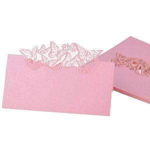 50 Schmetterlinge Tischkarte Visitenkarten Hochzeit Geburtstagsfeier Tischdekoration Pink
