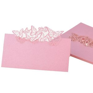 50 Cut Butterflies Pink Name Tischkarten Hochzeit Tischkarten