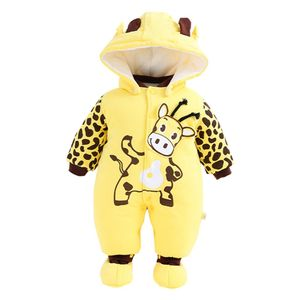 Baby Overall Mit Kapuze Footies Strampler Winter Schneeanzüge Karikatur Jumpsuit Onesies, 0-3 Monate, D