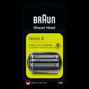 Braun Series 3 21B Elektrorasierer Ersatzscherteil – schwarz