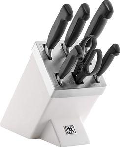 Zwilling Vier Sterne Messerblock Messerset Selbstschärfend 7tlg, weiß