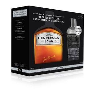 Gentleman Jack Double Mellowed Tennessee Whiskey Geschenkset mit gratis Shaker in Geschenkpackung | 40 % vol | 0,7 l