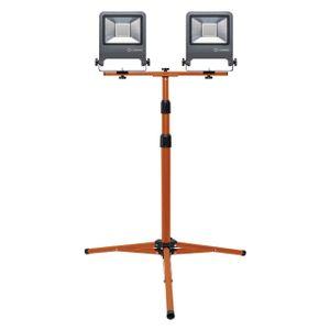 LEDVANCE WORKLIGHT 100 W LED Mobiler Strahler Kaltweiß 180 cm Aluminium  /  Stahl Dunkelgrau 2-Flamm