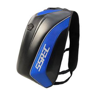30 Liter Motorrad Rucksack  Fahrradrucksack Hartschale Gepäcktasche Carbon  ○ blue