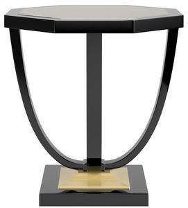 Casa Padrino Luxus Barock Beistelltisch Schwarz / Gold 60 x 60 x H. 65 cm - Eleganter 8-eckiger Tisch im Barockstil - Barock Möbel