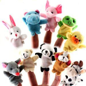 10 Stück Set Handpuppen Fingerpuppen Satz Plüsch Tier Lernspielzeug für Kinder und Kleinkind - Mehrfarbig