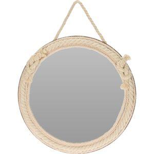 Wandspiegel rund Ø35,5cm mit Seil-Aufhängung