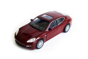 PORSCHE Panamera S Modellauto Metall Modell Auto Spielzeugauto Welly Geschenk 84(Dunkelrot)