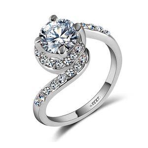 Verlobungsring Zirkonia Kristalle Damen-Ring Solitär-Ring Autiga®  57 - Ø 18,05 mm