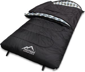 "Schlafsack ""Antarctica"" (Reißverschluss rechts) - Schwarz - 220 cm × 90 cm"