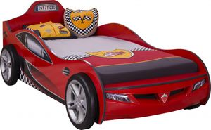 Cilek COUPE Autobett Kinderbett Bett Rennfahrerbett Rot, Matratze:mit