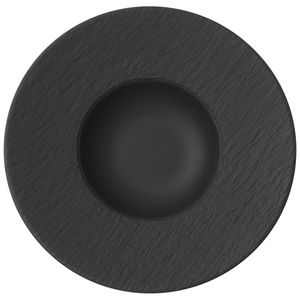 Villeroy & Boch Manufacture Rock Pastateller 6 Stück Nr. 1042392790 und 4er Set EKM Living Edelstahl Strohhalme
