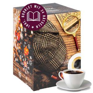 Corasol Premium Coffee & Crime Kaffee-Adventskalender XL 2021, 24 Kaffees aus aller Welt im Coffeebag & Krimi-Booklet mit 24 Rätseln (240 g)