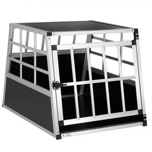 Cadoca Hundetransportbox Aluminium robust Hundebox Autotransportbox verschiedene Größen, Größe:Hundetransportbox M