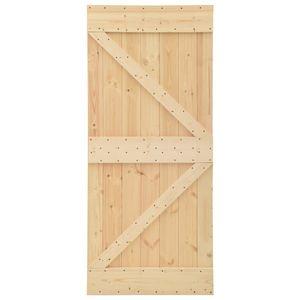 vidaXL Tür 100x210 cm Kiefer Massivholz