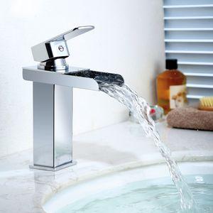 Wasserhahn Bad Wasserfall Wascbecken Armatur Badarmatur Mischbatterie Bad Waschtischarmatur Waschbeckenarmatur Armatur