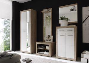 Garderobe Can Can Dielenmöbel Kompaktgarderobe Eiche San Remo CanCan