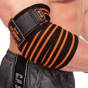 Profi-Ellenbogenbandage schwarz/orange