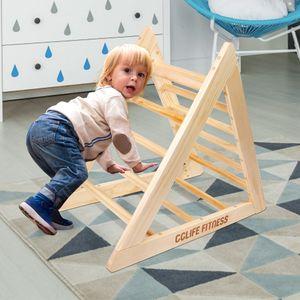 Kletterdreiecke nach Pikler Art Holz Indoor für Babys Kinder kleinkinder Aktivspielzeug Kletterleiter Kettergerüst