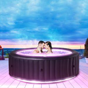 Miweba MSpa Whirlpool 2021 Urban Aurora U-AU061 für 6 Personen mit LED, M-ONE & Ozon-Desinfektion