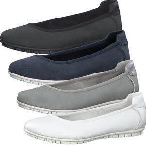s.Oliver Damen Schuhe Ballerina Slipper 5-22119-26, Größe:38 EU, Farbe:Blau