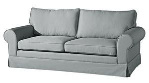 Max Winzer Hillary Sofa 3-Sitzer (2-geteilt) inkl. Zierkissen - Farbe: grau - Maße: 202 cm x 89 cm x 85 cm; 2890-3880-1645216-KUN