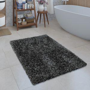 Moderne Badematte Badezimmer Teppich Shaggy Kuschelig Weich Einfarbig Grau, Grösse:70x120 cm